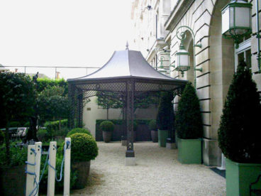 <p>A faux-lead roofed Smoking Gazebo, including internal ceiling, at an exclusive Club in Pall Mall, London. </p>