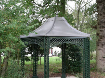 <p>A faux-lead roofed Gazebo in a large garden in Berkshire.</p>
