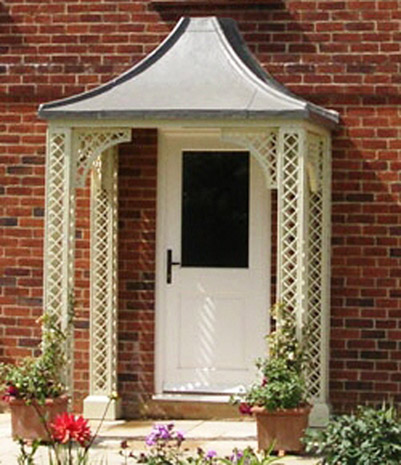 how to build an arched porch roof