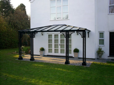 <p>A beautiful Verandah on a delightful Period house in Kent; 5.3m x 2.5m deep, hipped ends; standard Lattice columns and Quarter arches.</p>