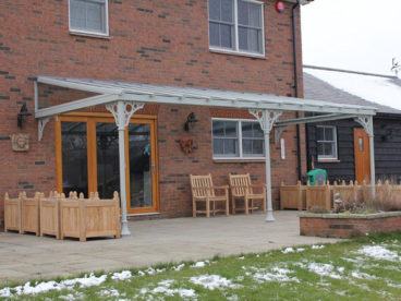 "<p>Customer quote: ""The superb Verandah looks terrific, the boys worked very hard in awful conditions, but got the job done in one day, as promised! Thanks so much"".</p>"