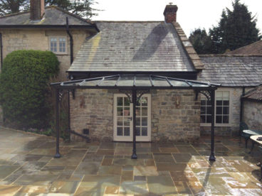 <p>A double-hipped Verandah in Somerset, using our Trompette bases and Lattice quarter arches.</p>