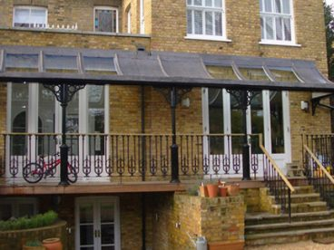 <p>A curved lead and glass roof in West London finished in 2009</p>