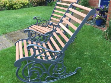 """<p>""""The rocking chairs look absolutely  stunning.   Thank you for going above and beyond to get me a matching pair and the superb workmanship that has obviously been bestowed open them.""""</p> <p>C Owen   Swansea   April 2018</p>"""